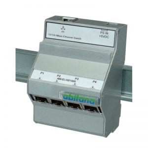 Abitana, Fast Ethernet Switch - 5 ports 10/100bT - DIN-rail (ABI-EL1001S00)