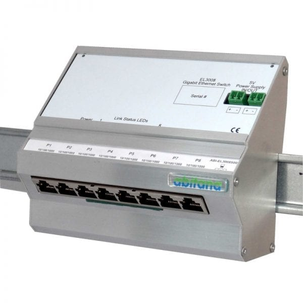 Abitana, Gigabit Ethernet Switch - 8 ports 10/100/1000bT - DIN-rail (ABI-EL3008S00)
