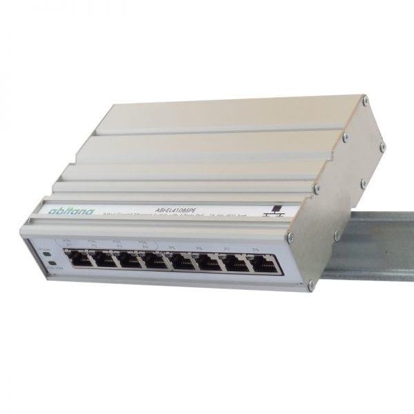 Abitana, Ethernet Switch 4x Gigabit PoE en 4 x Gigabit - DIN rail montage (ABI-EL4108SPE)