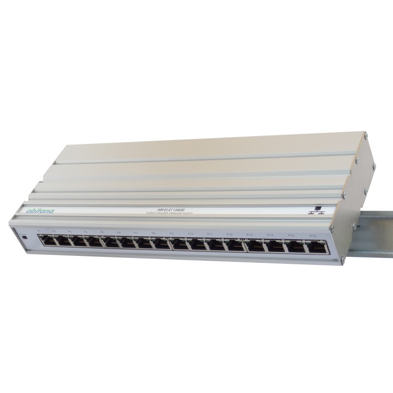 Abitana, Ethernet Switch 16 x Gigabit - DIN rail montage (ABI-EL4116S00)