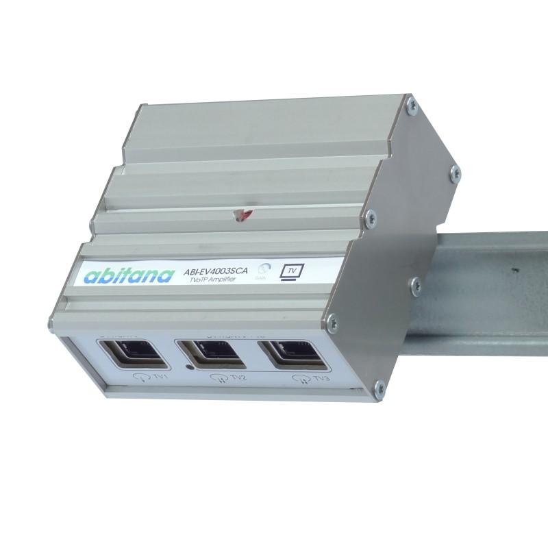 Abitana, TV-over-Twisted-Pair breedband versterker - Kabel TV en DTT - 3 poorten (ABI-EV4003SCA)
